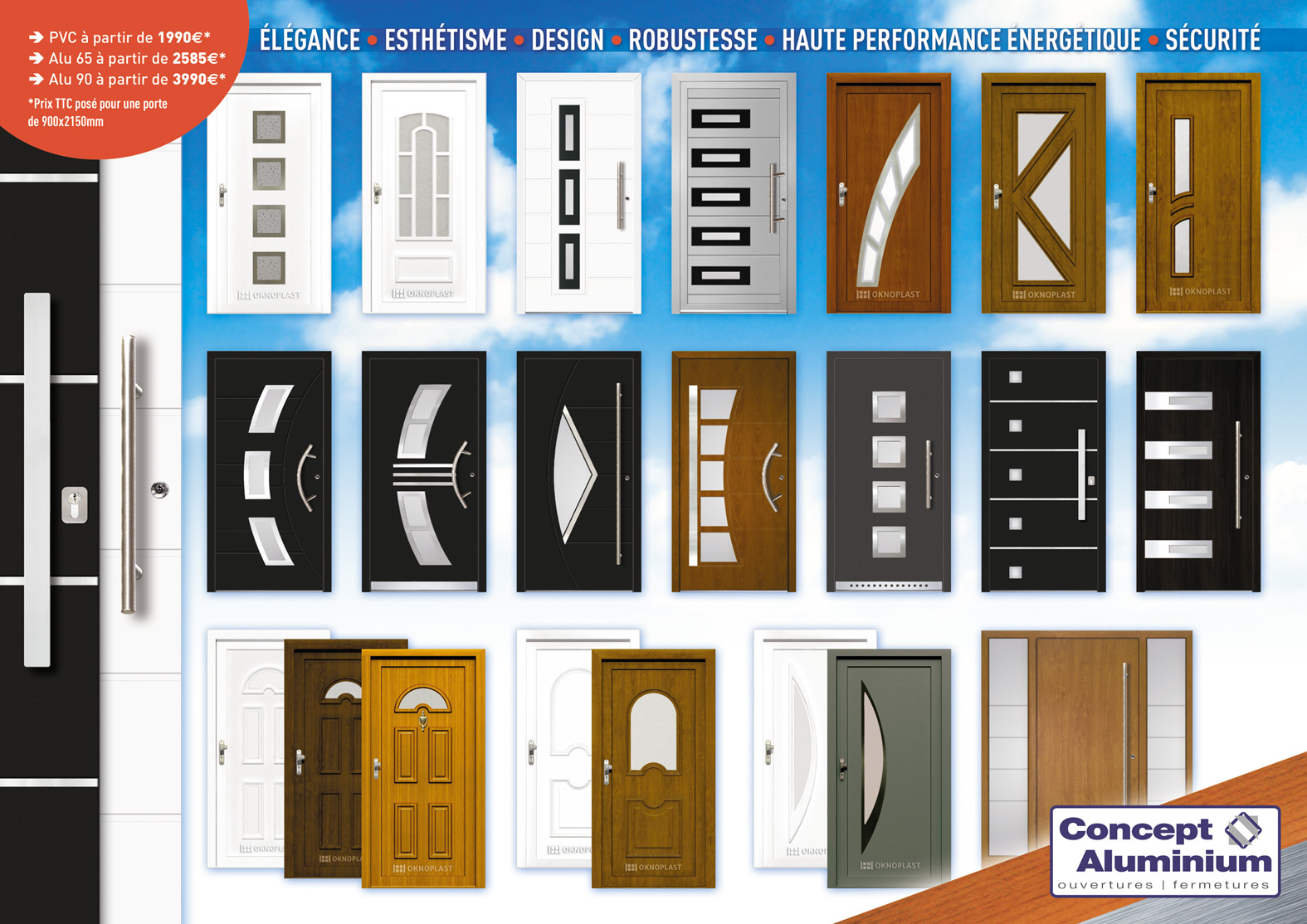 Cheap Flyer Portes Duentres With Prix Pose Porte D Entre With Prix D Une Porte  D Entre En Pvc.